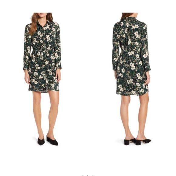 Everleigh Dresses & Skirts - Everleigh Shirred Knot Shirtdress